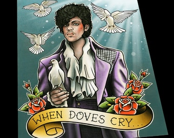 Prince Tattoo Flash Art Print
