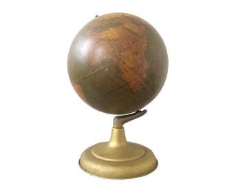 Remarkable Art Deco Terrestrial World Globe - Circa 1948