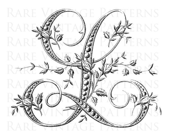Zany image intended for printable monogram stencil