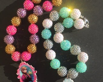 Frozen Bling Chunky Necklaces