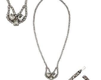 Vintage Clear Rhinestone Elegant Single Strand Necklace