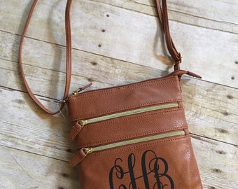 Messenger Style Crossbody Monogrammed Purse