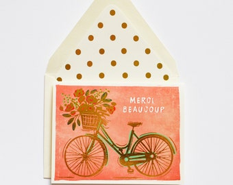 Merci Beaucoup Bicycle Gold Foil Card