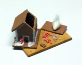 1:12 Scale Dollhouse Miniature Gingerbread House Prep Board, Made to Order