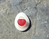 Beach Glass, Sea Glass, Red, Milk Glass, Pink, Genuine, Real, Gypsy Soul, Mermaid, Gift, Unique, OOAK, Found, Heart, Tiny