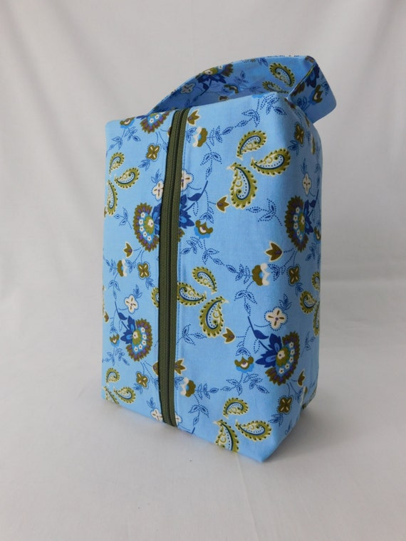 Knitting Project Bags For Sale : Sale large zippered box tote knitting crochet
