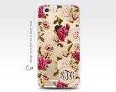 iPhone 7 Case , Clear Cases , iPhone 6 Case , iPhone 6 Plus Case , Transparent Case , Monogram Case , Roses , Galaxy S7 Case , Rubber Case