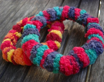 crocheted bangle Winter Days, 2 shades