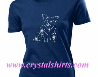 Welsh Corgi rhinestone, bling T-shirt