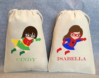 """16- supergirl party, Superhero Party Favor Bags, Supergirls, Superhero Party, 5""""x8"""""""