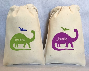 "8- Dinosaur party, Dinosaur, Dinosaur favor, Dino birthday, Dinosaur Birthday, Dino Party, Brontosaurus, Dinosaur party favor bags, 5""x8"""