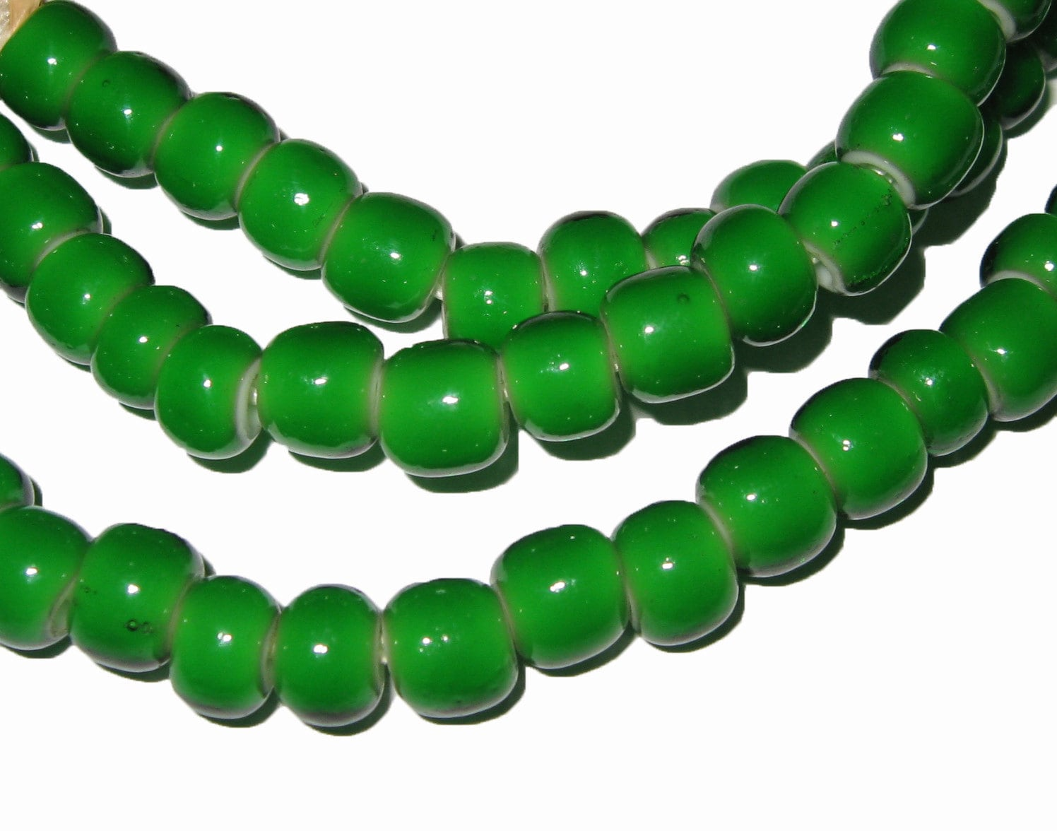 Strand Of Whitehearts From The African Trade Whiteheart Beads