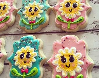 Happy Sprinkle Daisy Cookies