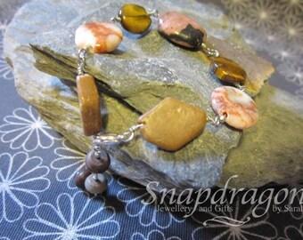 Mixed gemstone bead bracelet