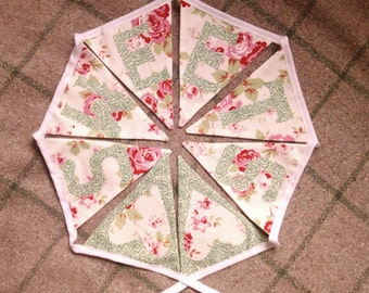 SWEETS fabric bunting