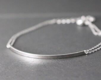 Silver bar bracelet