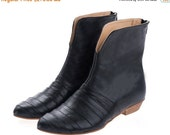 BOOTS SALE Black boots, Leila, flats, Black, leather boots, handmade, by Tamar Shalem on etsy