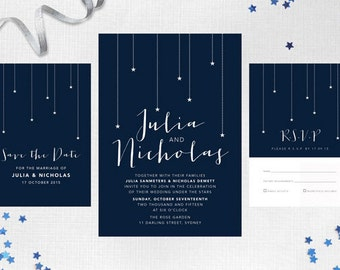 Modern Wedding Invite – Oh My Stars Printable Wedding Invitation Suite