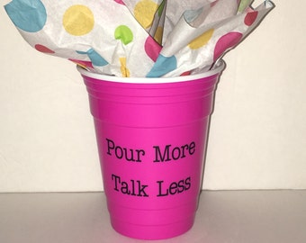 Pink Double-Wall Reusable Party Cup