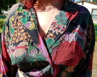 Vintage 90's Rayon Blouse