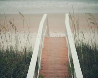Vilano Beach Photography, St Augustine Photograph, Southern print, sand dunes art, boho decor, travel photography, sea oats print, ocean