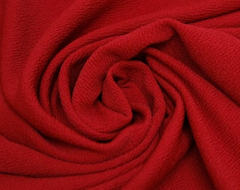 Red Crepe Techno Knit Fabric - 1 Yard Style 481