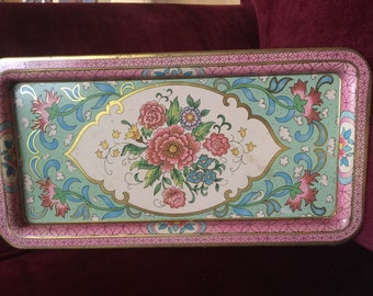 Country Romantic Shabby Chic Daher Floral Tray