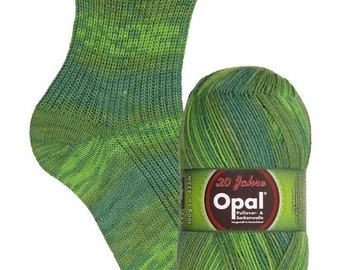 "4ply sock yarn 100g from Opal ""20 years"" - shade 9281 'Congratulations'"