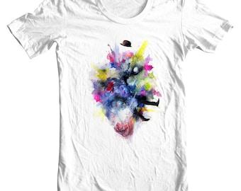"Art T-shirt - Wearable Art - Surreal Shirt - ""Ego-death"" by Black Ink Art"