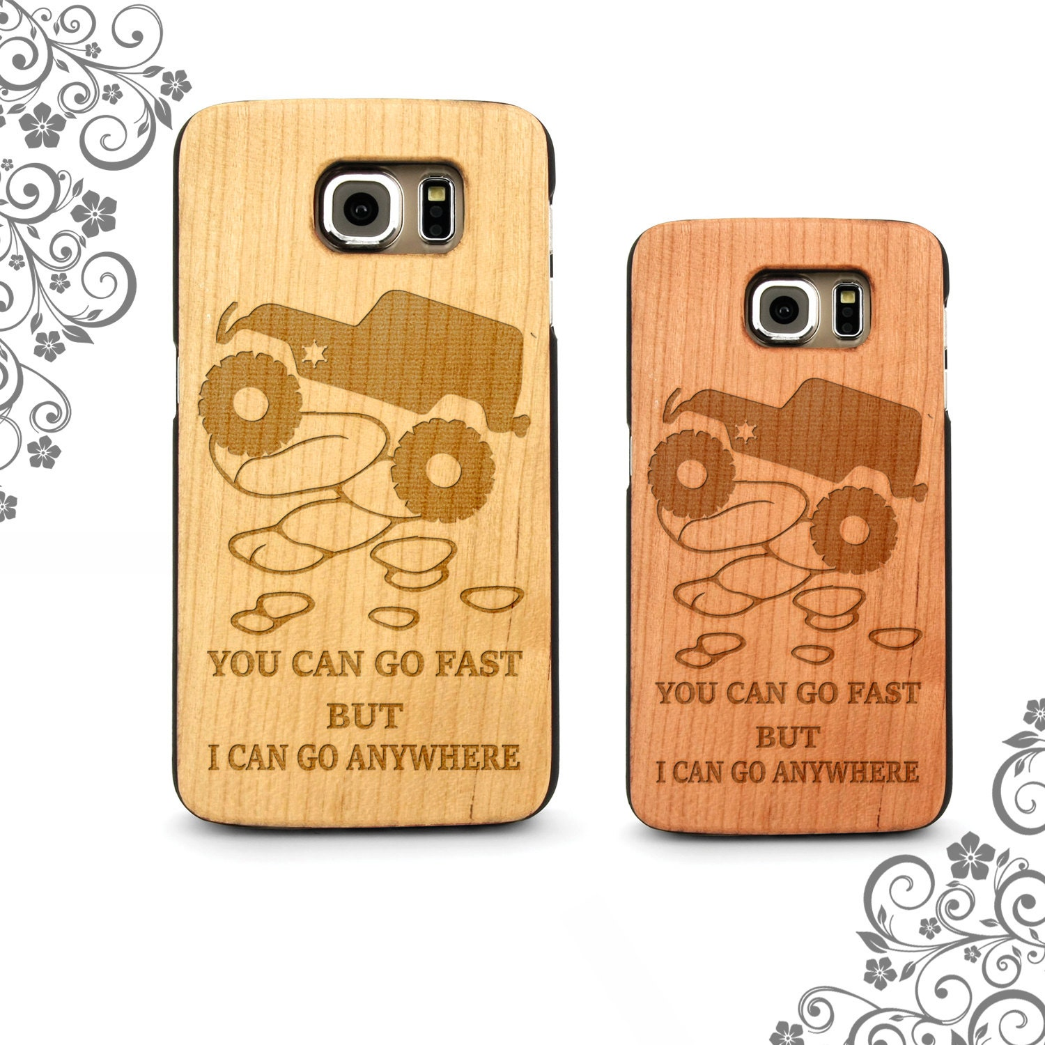 Jeep Quotes Jeep Quotes Laser Engraved In Maple Cherry Cork Black Wood Phone