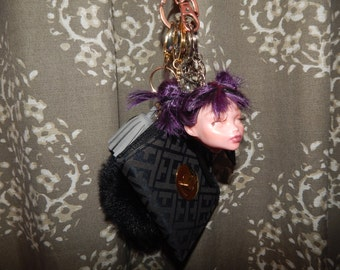 OOAK Doll Head Keychain **FREE SHIPPING**