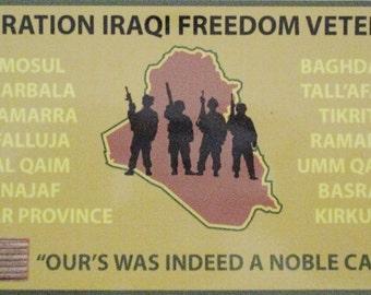 """Operation Iraqi Freedom Veteran Campaign 4"""" x 7"""" Bumper Sticker 2-Stickers Per Order"""