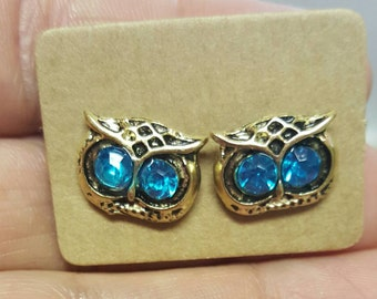 Adorable owl studs