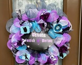 Disney's Haunted Mansion inspired Deco Mesh Wreath