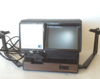 Vintage Movie Editor Keystone 250 Dual Eight Movie Editor 1970s Electronics Collectible Film Editor Screen Retro Reel to Reel Movie Editor
