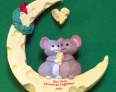 "DMu1305 - 1996 Hallmark Handcrafted Ornament, ""Our First Christmas Together"" - Still In Box - Holiday Sale!!"