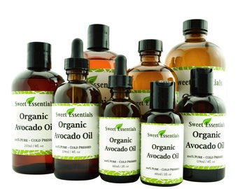 Organic Avocado Oil | Imported From Italy | 100% Pure | Cold Pressed | For Hair. Skin & Nails | By Sweet Essentials