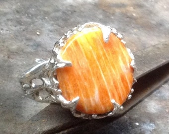 Spiney Oyster. Ring  Sterling Silver