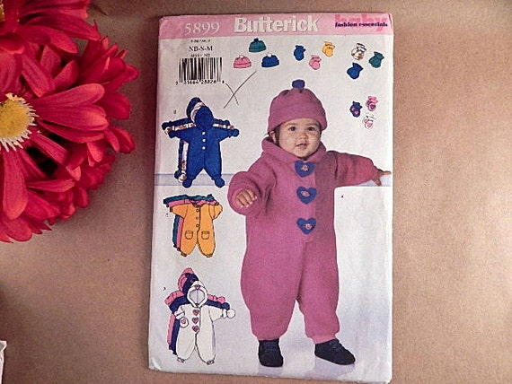 Apparel Sewing Pattern Baby Clothing Bunting Uncut