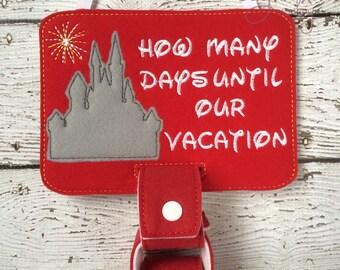 Castle Vacation Countdown Calendar