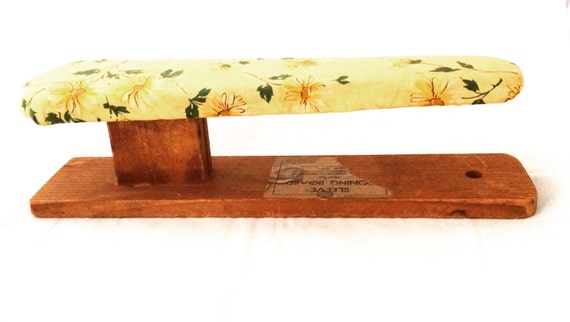 vintage wood sleeve ironing board with original cover retro. Black Bedroom Furniture Sets. Home Design Ideas