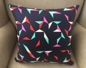 Cushion Cover/Pillow in Cotton & Steel Moonlit Tangrams Navy