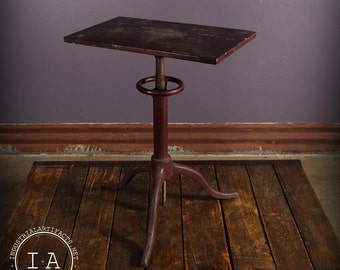 Vintage Industrial Painted Cast Iron Adjustable Artists Drafting Table