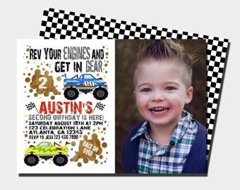 Monster Truck Birthday Invitation | Truck Birthday Invitation | Racing Birthday Invitation | Car Birthday Invitation | Boy Birthday