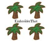 UNCUT Palm Tree applique embellishment hair bow centers(4)