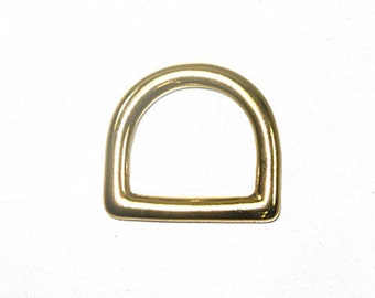 "3/4"" D-Ring Solid Brass - 10 Pack"