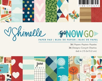 Shimelle - Go Now Go Collection - 6x6 Paper Pad - 36 Sheets - 375269