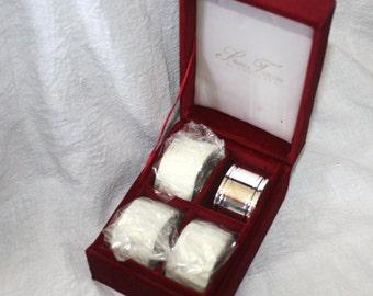 Vintage Set of Four Godinger Silver Arts Co Napkin Rings Original Box