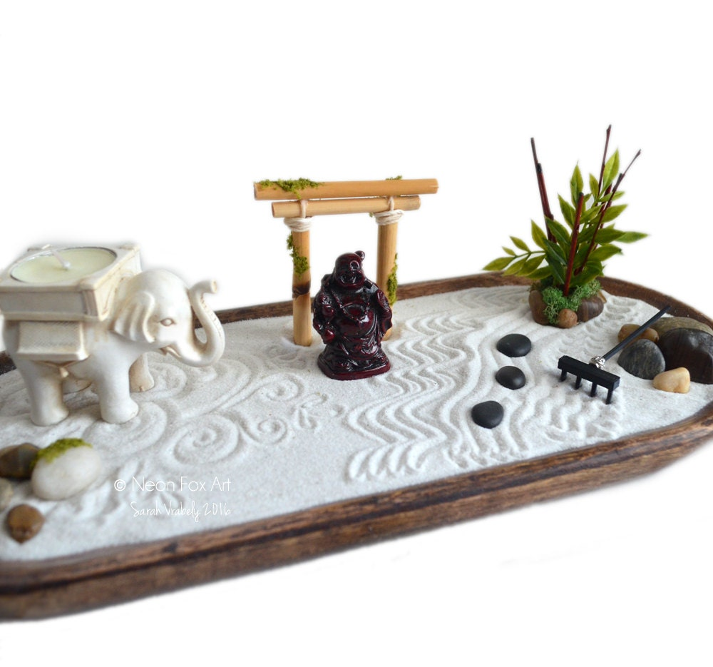 Zen garden miniature buddha statue centerpiece for Jardin zen miniature