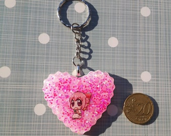 Keychain with character of Ragnarok Online and glitter